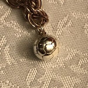 Jewelry - Sterling silver soccer ball charm